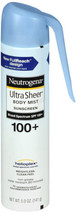 Neutrogena Ultra Sheer Body Mist Sunscreen SPF 100+ 5 FL OZ - $9.95