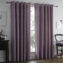 """LEAVES HEATHER PURPLE LINED 66"""" X 72"""" - 168CM X 183CM RING TOP CURTAINS - $68.69"""