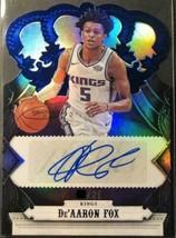 NBA Crown Royale Auto RC De'aaron Fox BLUE / 25 SSP trading cards panini - $325.71