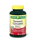 Spring Valley Turmeric Curcumin Vegetarian Capsules With Ginger Powder, ... - $27.96