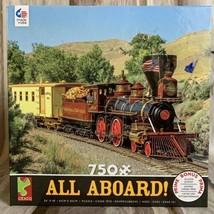 Ceaco 750 Piece Jigsaw Puzzle Railroad Train Steam Engine Scene All Aboard - $39.04