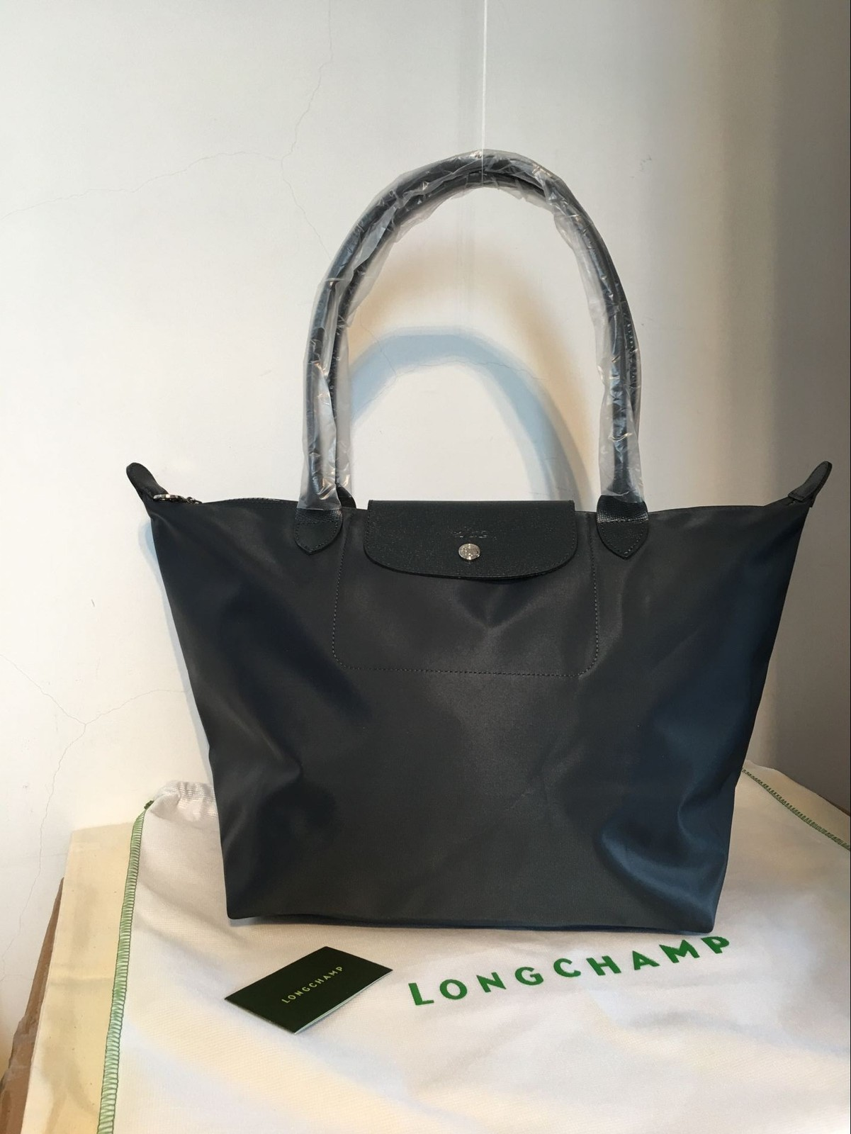 Qq 20170308123942. Qq 20170308123942. France Made Longchamp Le Pliage Neo Large  Tote Bag Graphite 1899578897 Authentic 09ee834c57350