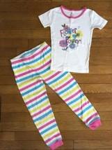 *Childrens Place pink blue Flower Power pajamas short sleeve set pj jamm... - $7.92