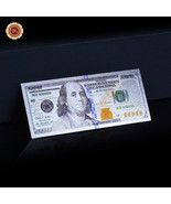 WR New US $100 Dollar Colored Silver Foil Banknote Paper Money For Colle... - $0.99