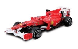 FERRARI F10 RACE & PLAY 1:32 SCALE DIECAST CAR & RACING ACCESSORIES BY B... - $16.82