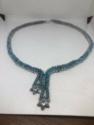 Vintage Persian Turquoise Necklace 925 Sterling Silver Choker