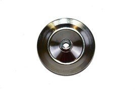 SBC BBC CHEVY CHROME POWER STEERING PULLEY 1 GROOVE V-BELT KEY WAY STYLE 350 454 image 2