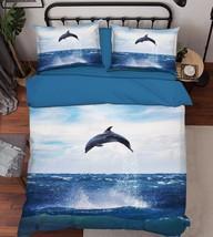 3D Sea Dolphin 2 Bed Pillowcases Quilt Duvet Cover Set Single Queen King Size AU - $64.32+