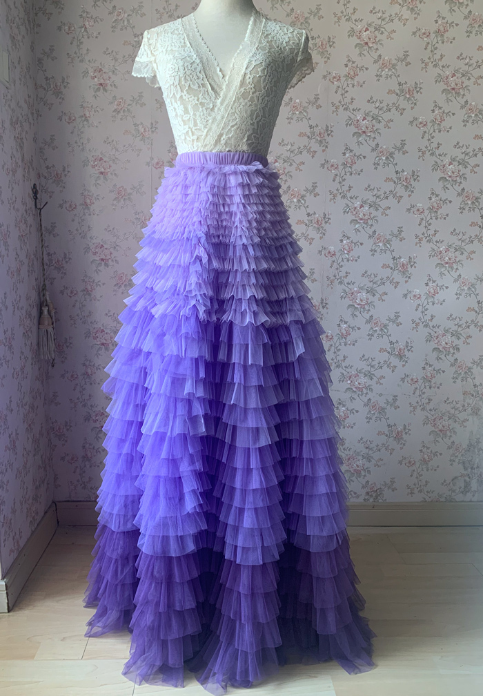 TIERED Tulle Skirt Wedding Tulle Outfit Women Plus Size Layered Long Tutu Skirt