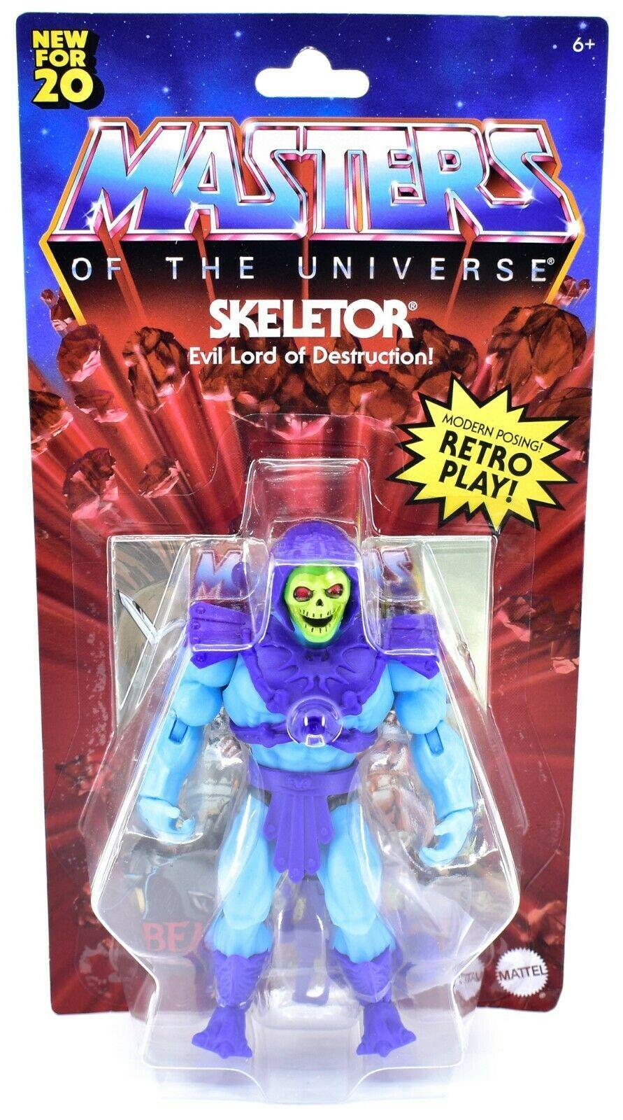Mattel Masters of the Universe MOTU Skeletor Retro Play Action Figure GNN88