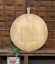 Vintage Wooden French Bread Board, Round Cutting Chopping Cheese Board H... - £154.79 GBP