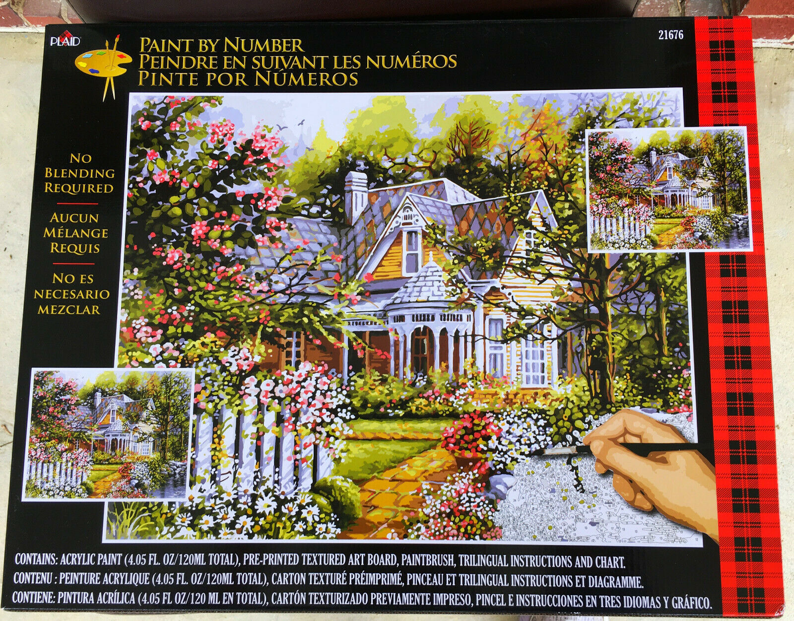 Primary image for Paint by Number  Set, Victorian Cottage Painting,  Plaid 21676 , Teen/Adult Kit