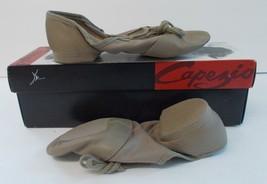 Capezio Jazz Shoes 358 Split Sole Leather Adult Size 4.5 M (Medium) Tan NIB - $17.96
