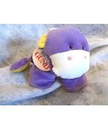Baby Gund Puffy Luv Plush Baby Cow 5822 Purple & Yellow Baby Toy~NEW wit... - $18.52