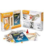 Mud Puddle Inc Books Model Stainless Steel Rocket Construction Set and Book - $33.99