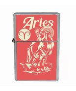 Aries Rs1 Flip Top Oil Lighter Wind Resistant With Case - $12.82