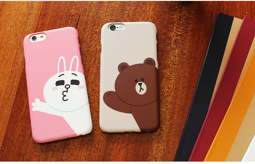 LINE Friends Character CONY Baby Pink iPhone 6/6S Hard Case Phone Cover Mobile