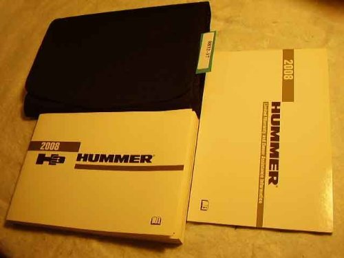 Primary image for 2008 Hummer H3 H-3 Owners Manual [Paperback] Hummer