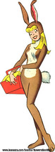 sexy Easter bunny pinup girl cartoon printable art png clipart digital d... - $2.99