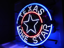"Brand New Texas Lone Star Logo Neon Light Sign 16""x 16"" [High Quality] - $129.00"