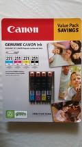 Genuine CANON CLI-251XL B/C/M/Y Ink Cartridges, 4-Pack - $61.99