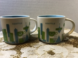 """Set of two Starbucks """"You Are Here """" Series Seattle Souvenir 14 oz. cup - $16.00"""