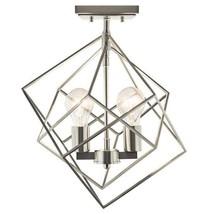 Kichler Beckenham Brushed Nickel Modern Incandescent Semi-Flush Mount Light - $59.39