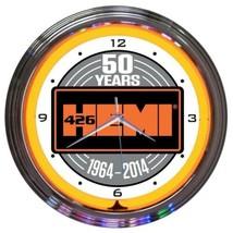 """Hemi 50th Anniversary Neon Clock 15""""x15"""" - $72.99"""