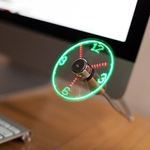 TRIXES Flexible USB LED Display Desktop & Laptop Clock Fan - $22.40