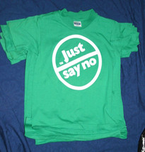 RARE Child's vintage 80s JUST SAY NO TO DRUGS GREEN NANCY REAGAN t-shirt... - $29.65