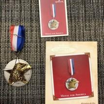Medal for America 2002 Hallmark Keepsake Ornament Metal & Pewter Militar... - $12.16