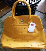 Disney Store Japan Snow White Seven Dwarf Tote Bag Handbag Yellow 7 dwarfs - $68.31
