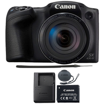 Canon+PowerShot+SX430+IS+20MP+Digital+Camera+45x+Optical+Zoom+Black+Wi-F... - $208.37