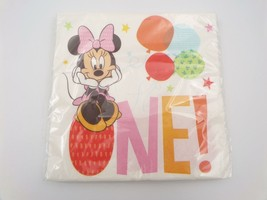 Unique Disney Baby Minnie Mouse Birthday 1 Napkins One! 1 Package 16 Count - $6.99