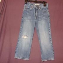 Blue Jeans Denim Boys Size 4 Regular Fit Cherokee Ripped Knee Adjustable... - $9.99