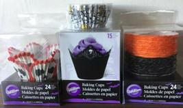 Skull Baking Cups Cupcakes Wilton  New Wedding Halloween Gothic F23 - $19.79
