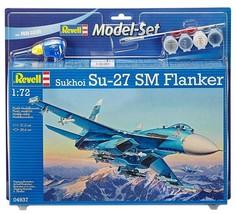 Revell 1/72 Sukhoi SU-27 SM Flanker Model Kit + Paint & Glue - $24.00
