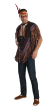 Extra Large Men's Native American Costume #jgg - $45.59