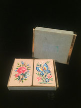 """Vintage W. P. Co. Double Playing Card Boxed set- #8902 """"Crewel Work"""" image 3"""