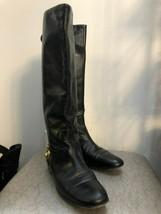 GUCCI Black Leather Studded Heel Mid Calf Flat Boots Sz 36/US 6 $1200 - $335.51