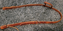 One Ear Headstall Waxed Harness Leather Horse Size NEW image 3