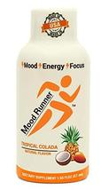 Mood Runner Energy Shots Tropical Colada Flavor, 100% Organic Caffeine with Bioe - $19.99