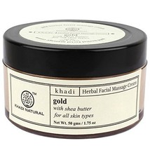 Khadi Herbal Gold Facial Massage Cream With Shea Butter 50gm Pack of 2 - $21.77