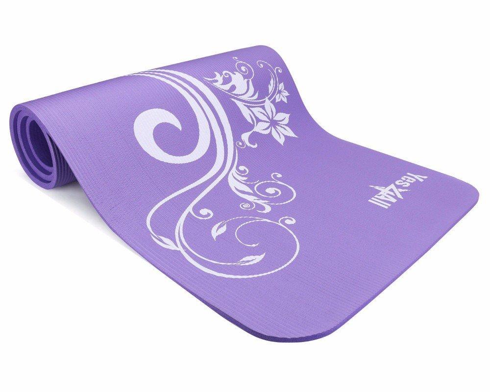 72 Inch Exclusive Premium Yoga Mat Printed Versions- Strap Extra Thick (MYSTI...