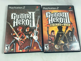 Lot Of PS2 Games:Guitar Hero 2, And 3 Legends Of Rock Complete Tested & Working - $13.54