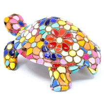 Barcino Hand Painted Limited Edition Flower Mosaic Turtle Tortoise Figure 54058 image 2