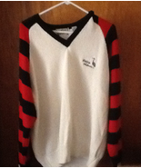 Aureus Sweater Eastlake Woodlands Mens White Red Black Sleeves 100% Acry... - $10.00