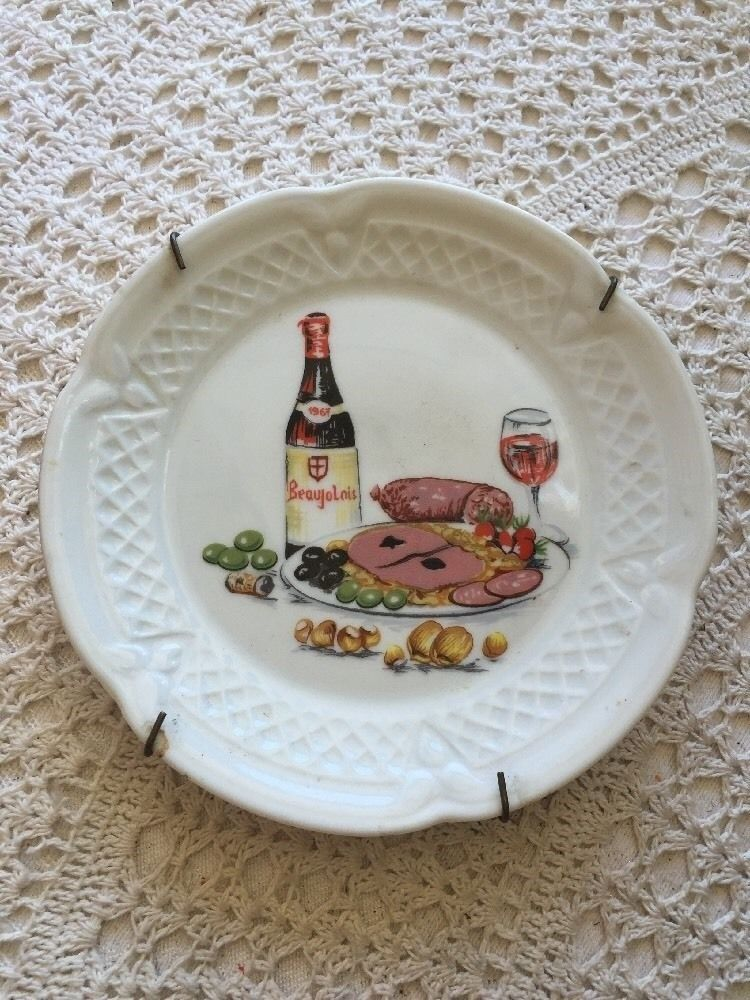 Berry Haute Porcelaine France Dinner And Wine Plate