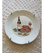 Berry Haute Porcelaine France Dinner And Wine Plate - $10.56
