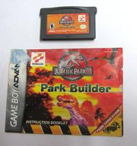 Jurassic Park III: Park Builder (Nintendo Game Boy Advance) w/ Manual Te... - $24.99